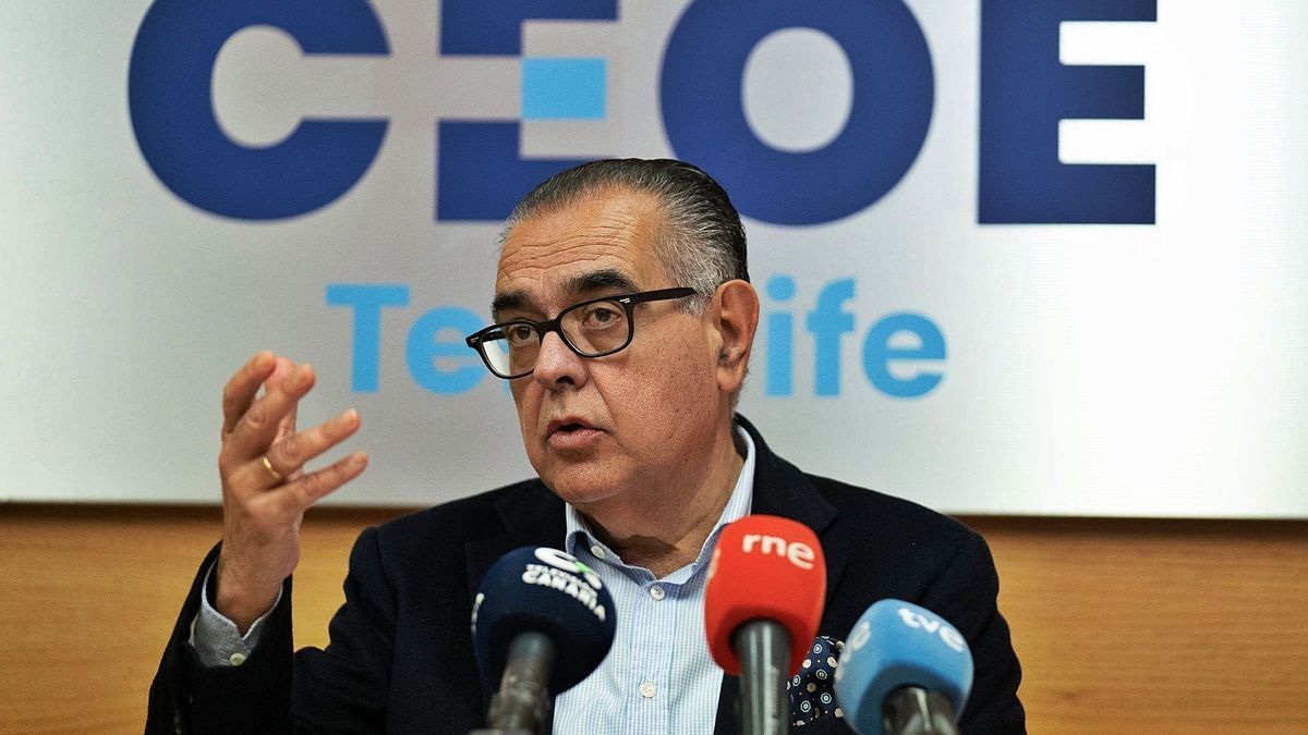 José Carlos Francisco, presidente de la CEOE-Tenerife, ayer.