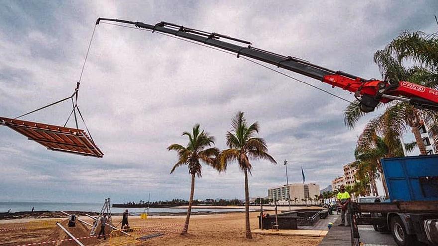 Arrecife instala un solarium en El Reducto