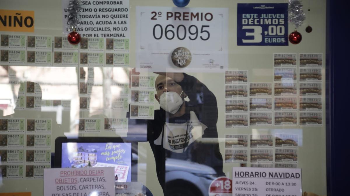 Segundo premio de la Lotería de Navidad en Palma