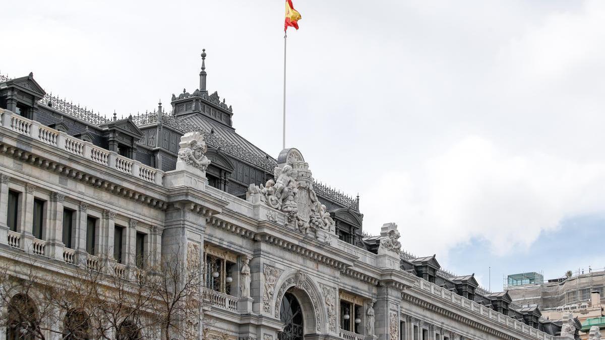 La façana del Banc d'Espanya, a Madrid