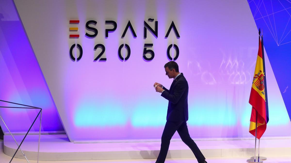 Pedro Sánchez ha presentado el informe 'España 2050'.