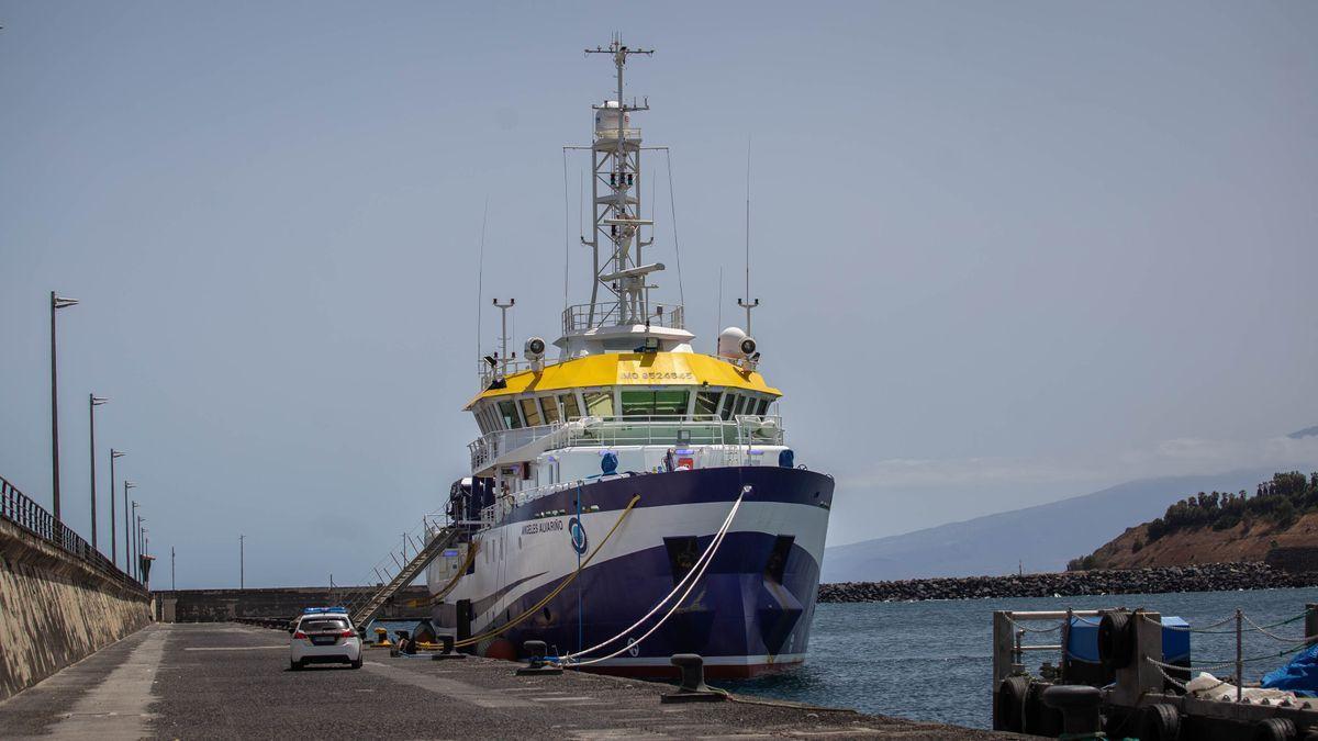 El buque 'Ángeles Alvariño' continúa con la búsqueda de los cuerpos de Anna y Tomás Gimeno.