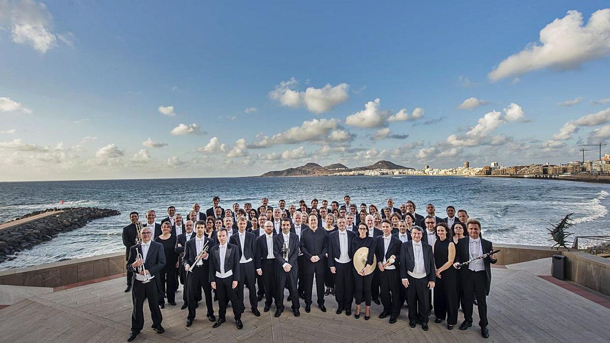 La Orquesta Filarmónica de Gran Canaria.     EL DÍA
