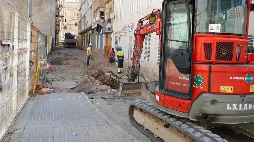 Las obras en la calle Subida San Diego avanzan a muy buen ritmo