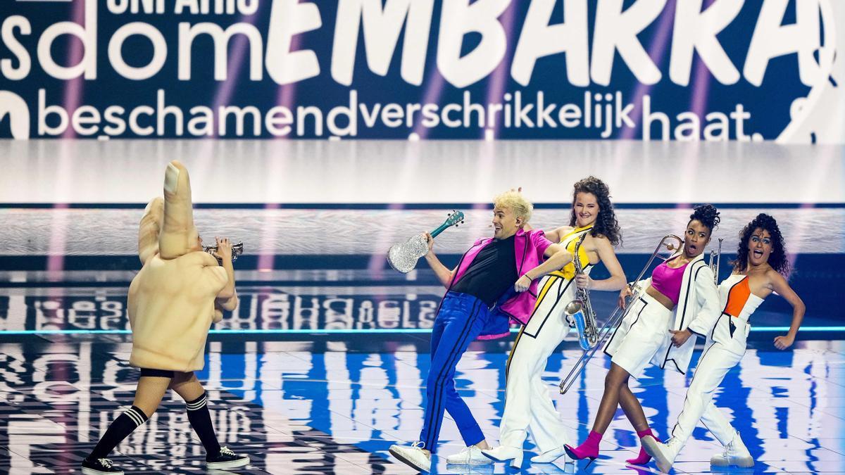 Ensayo de Alemania en Eurovisión.