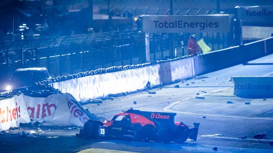 Merhi abandona las 24 horas de Le Mans por un accidente