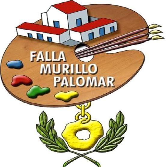 Murillo-Palomar, con una paleta de pintor como alegoría a Murillo.