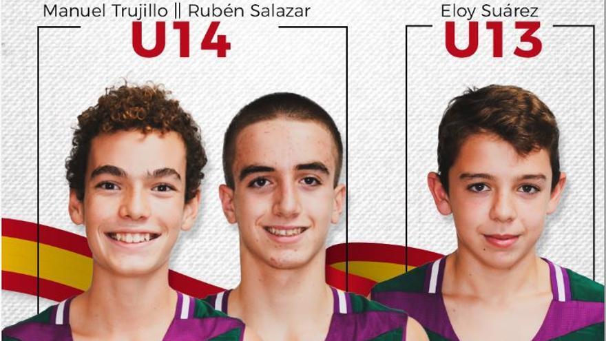 Tres canteranos del Unicaja, convocados con la Selección Española