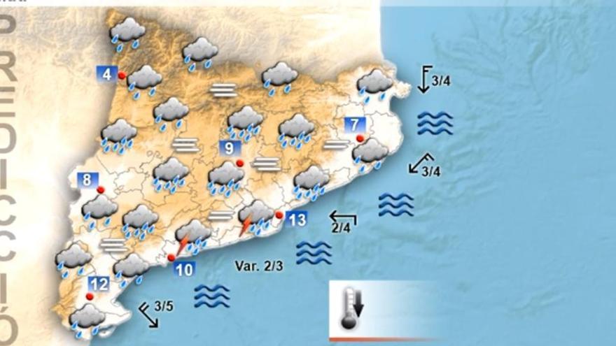 Alerta per pluges a les comarques gironines
