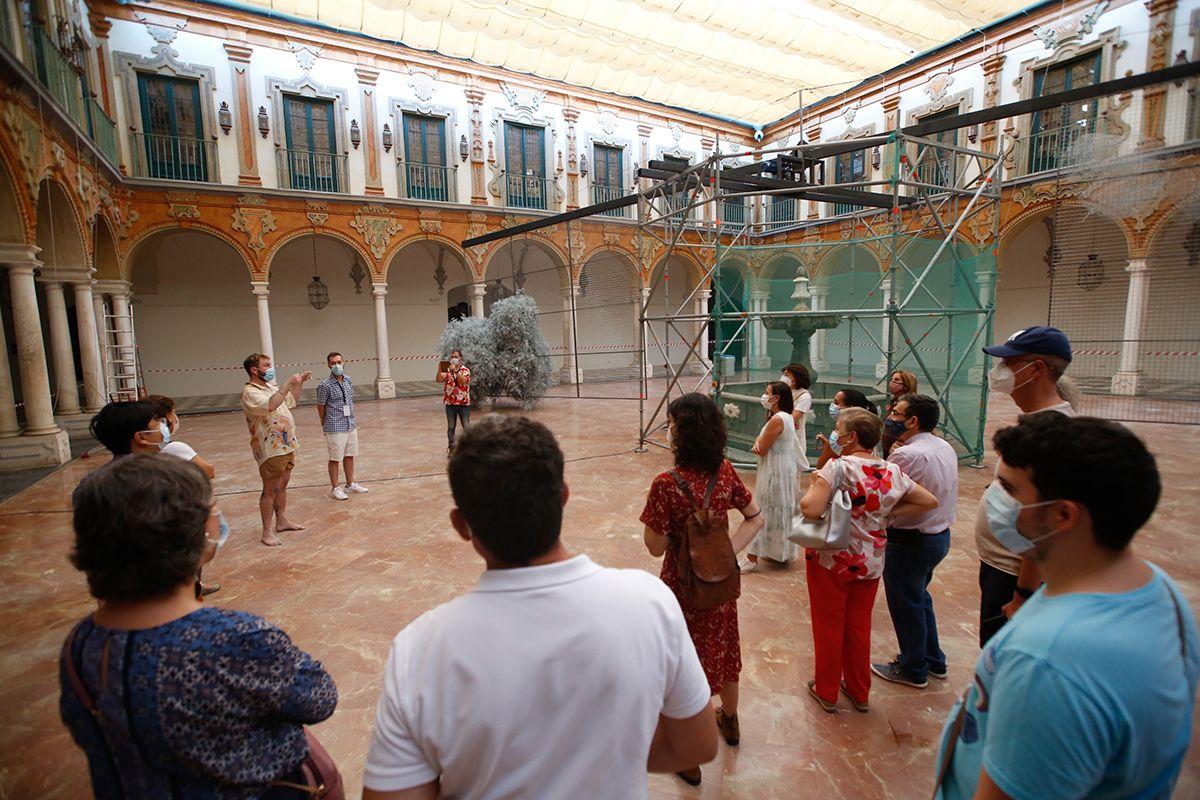 En el patio barroco Tableau presentan el montaje de lo que será su obra