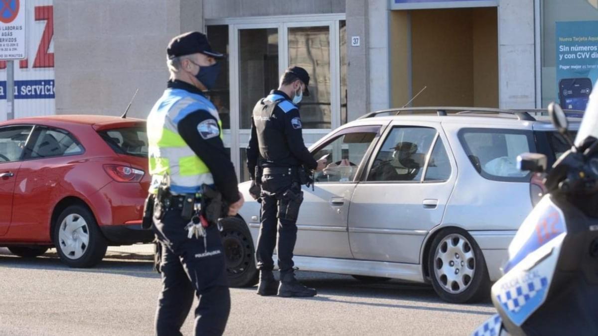 Una imagen de la intervención/ Policía Local de Poio
