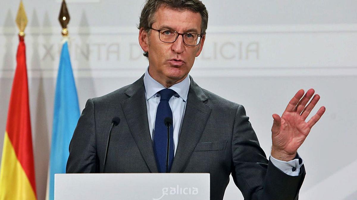 El presidente de la Xunta, Alberto Núñez Feijóo, ayer. |   // XOÁN ÁLVAREZ