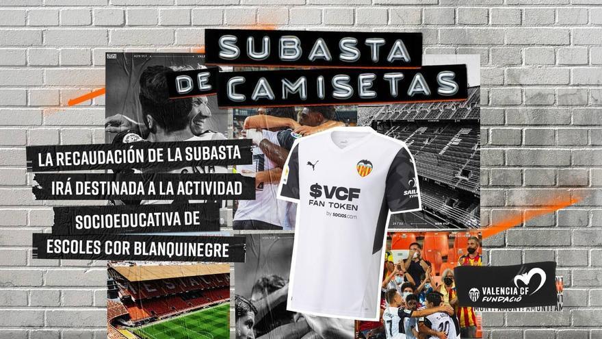 Subasta solidaria de camisetas del Valencia CF