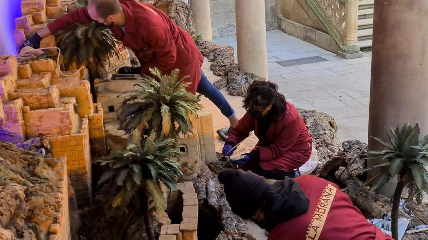 La Morana estrena un belén de Olot en la sede de la Diputación de Salamanca
