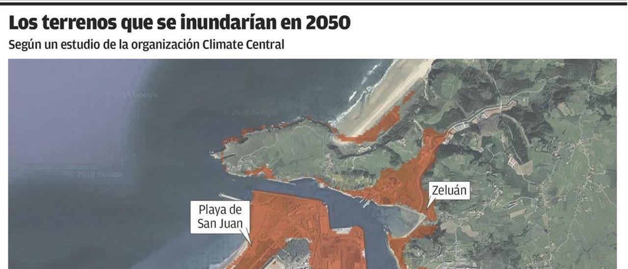 Zeluán y el Niemeyer quedarán bajo el agua por el cambio climático, según un informe