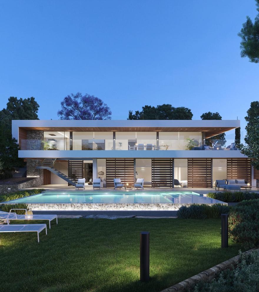 Can Aubarca, arquitectura de lujo en Ibiza en unas viviendas de ensueño