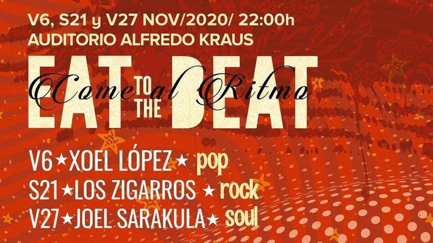 'Eat to the beat' regresa con Xoel López, Los Zigarros y Joel Sarakula