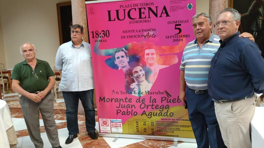 Morante de la Puebla, Juan Ortega y Pablo Aguado torean el 5 de septiembre en Lucena