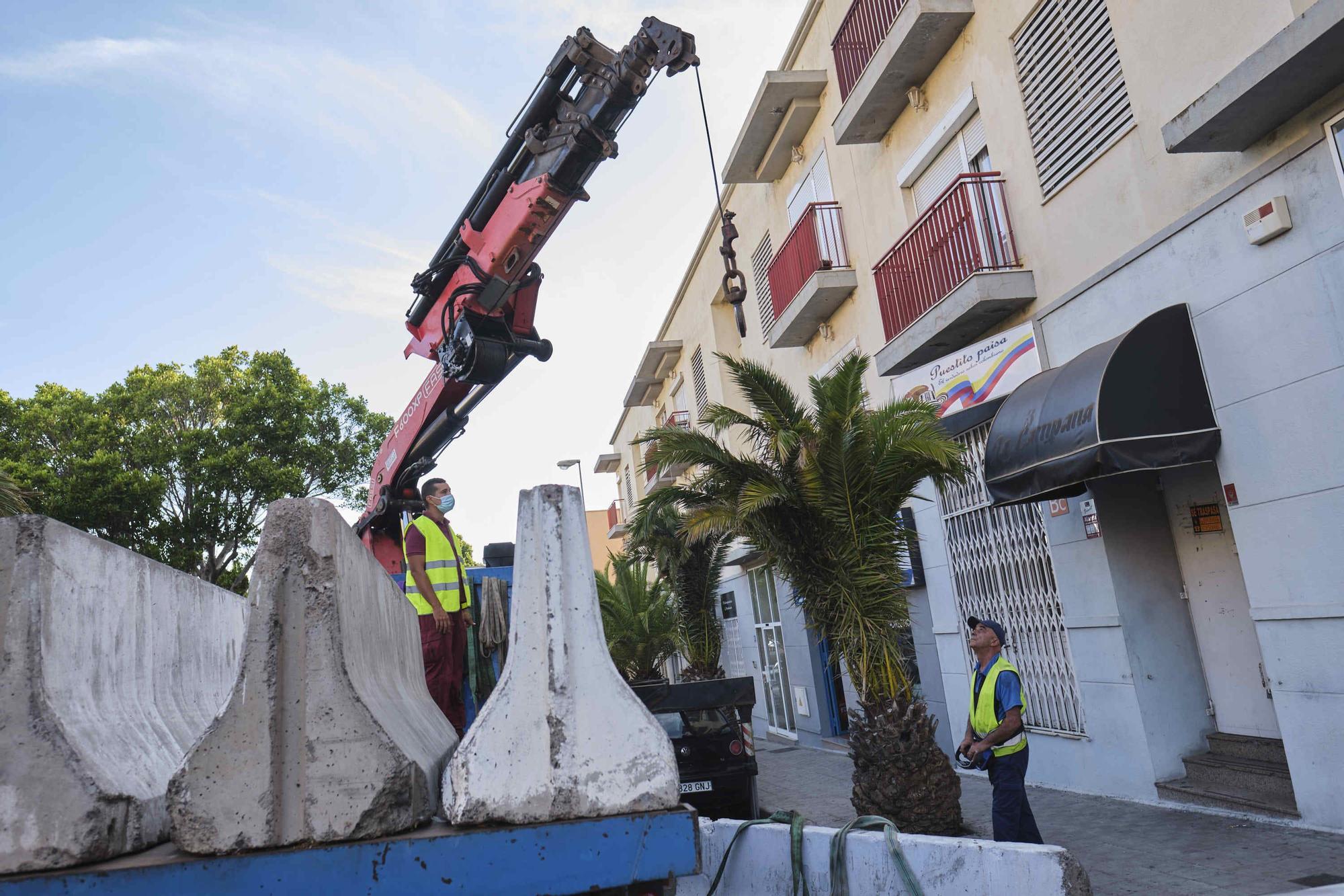 Retirada de las terrazas exprés en Santa Cruz