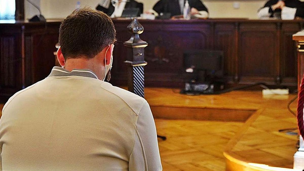 El acusado, en un momento del juicio celebrado en Zamora.