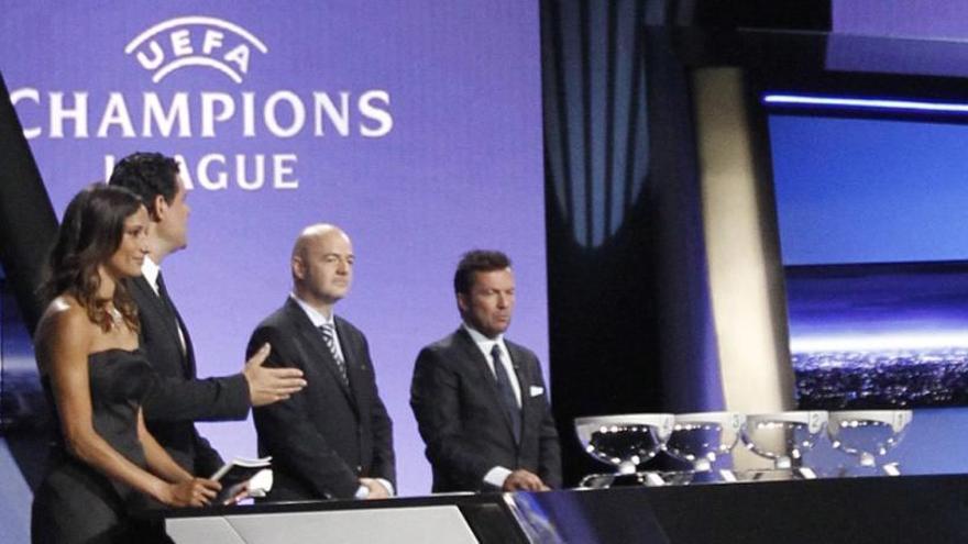 Así quedan los bombos del sorteo de la Champions