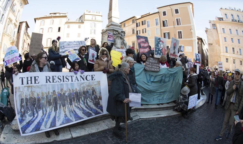 Protestas contra Donald Trump en Roma