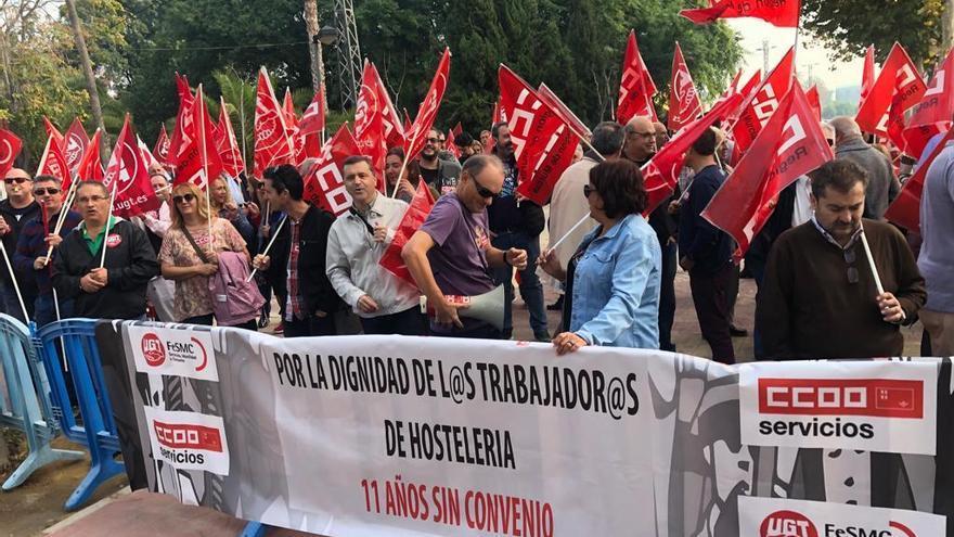 Concentración sindical por el contrato de hostelería