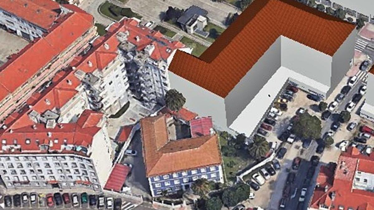 Recreación de uno de los edificios previstos en A Maestranza, incluida en el estudio de detalle presentado por la promotora y aprobado inicialmente por el Concello.
