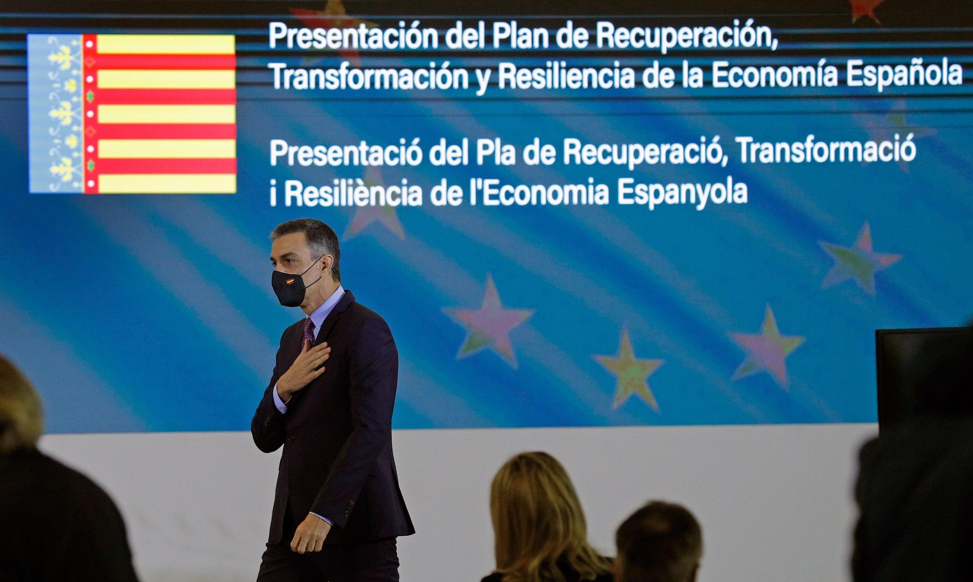Sánchez explica el Plan de Recuperación de la Economía Española en València