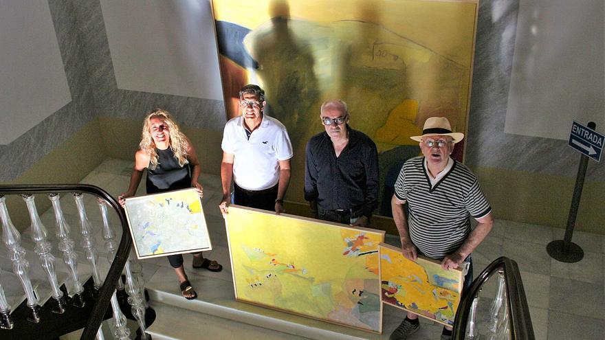 Vicente Ruiz homenajea al pintor del 'Abrigo del Mojao' de Lorca