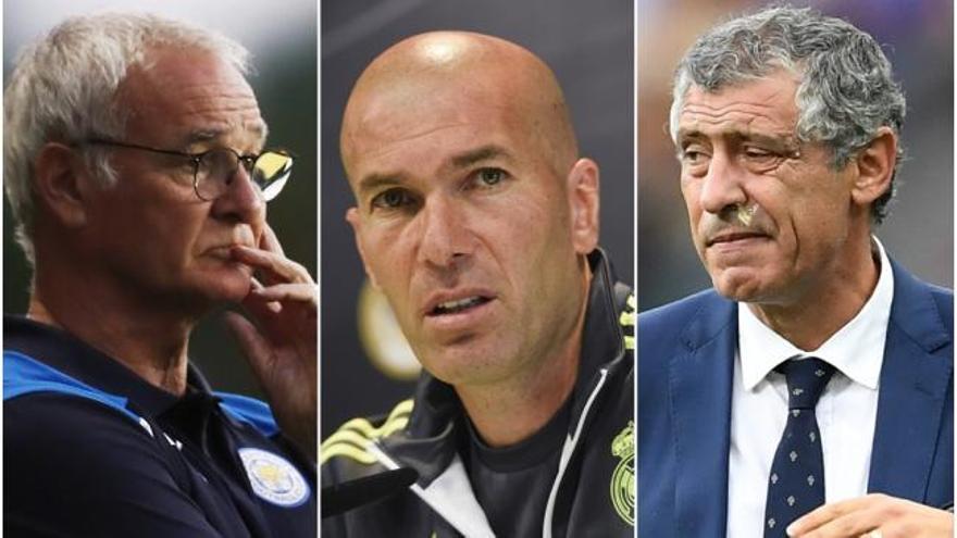 Zidane, Ranieri y Santos, candidatos a mejor entrenador