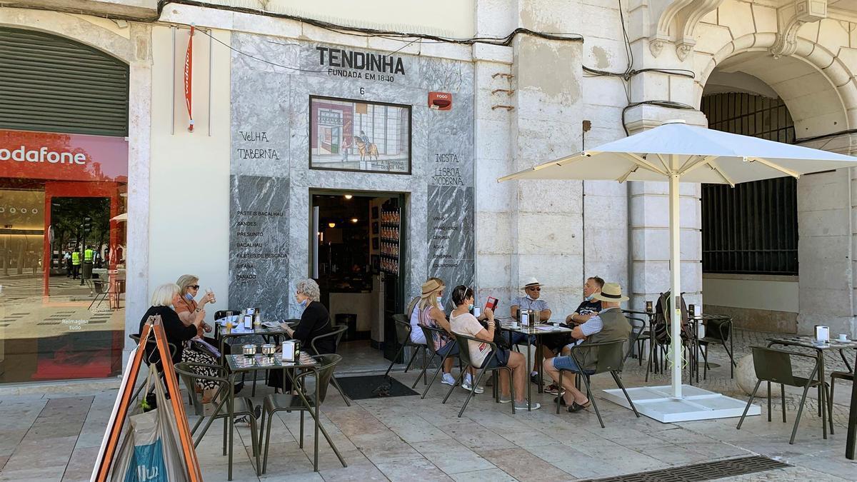 Un local de hostelería en Lisboa.