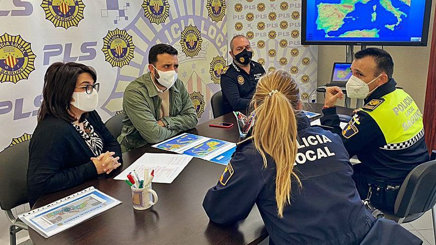 La policía de Sagunt participa en un simulacro internacional de tsunami