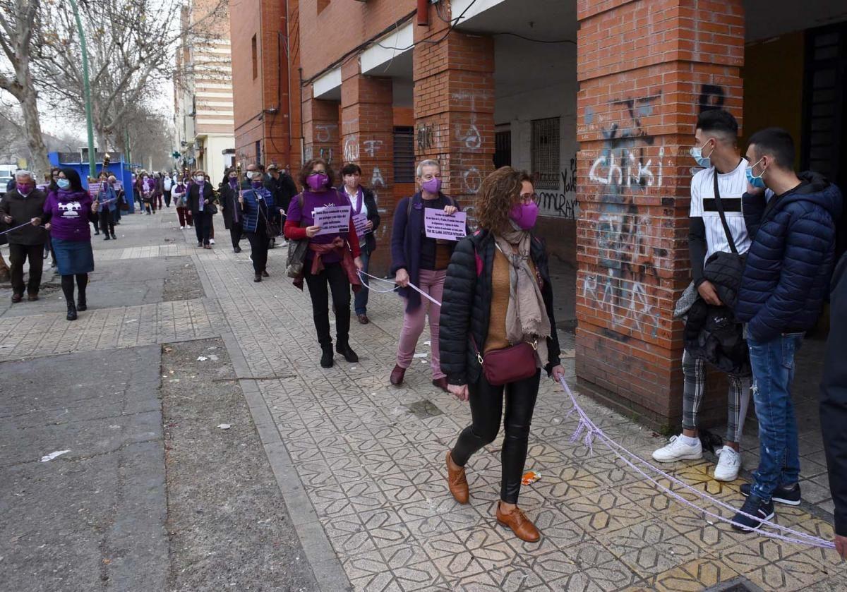 Marcha reivindicativa contra los asesinatos y violencias machistas