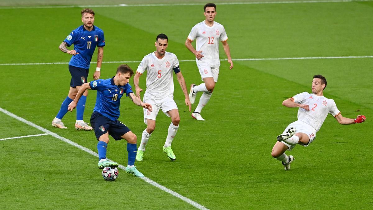 Italia-España, en imágenes