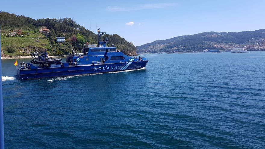 Aduanas estrena en la Ría de Vigo la patrullera de fibra más grande de Europa