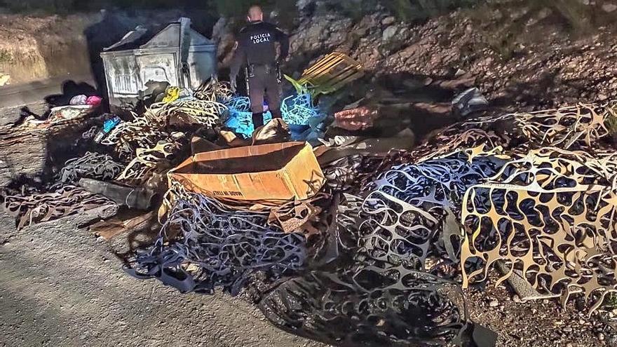 La Policía Local pone 173 sanciones por vertidos de basura en un año