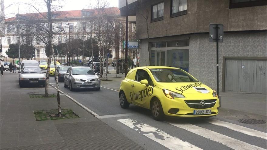 Caravana reivindicativa de hosteleros en A Coruña