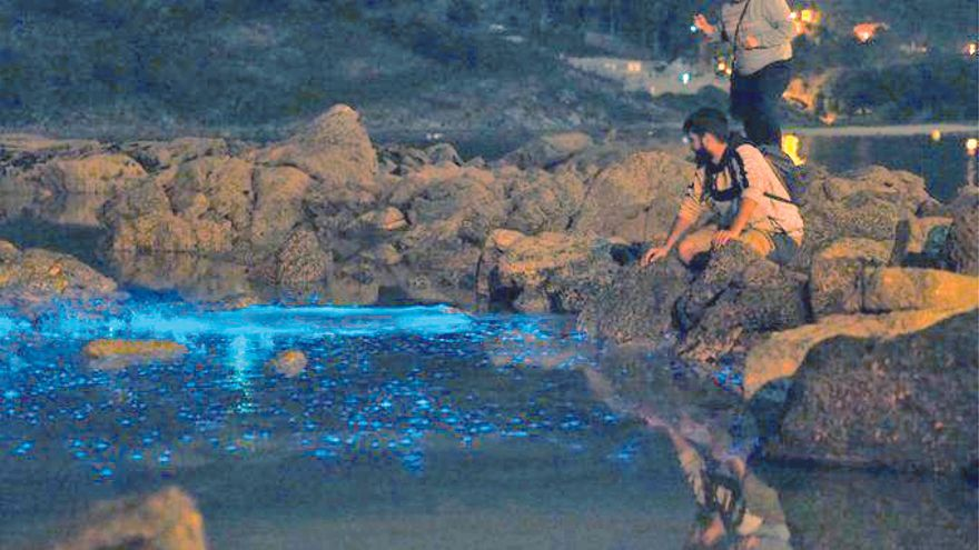 Las aguas centellean en la Ría de Vigo