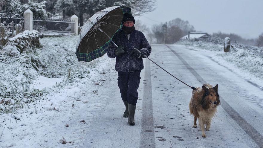 El primer temporal de frío ártico deja 300 incidencias, la mayoría por nieve