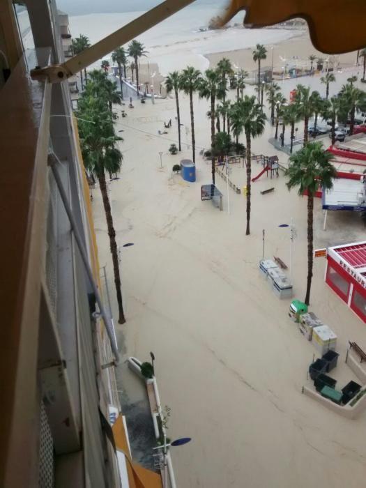 Cortes puntuales de calles en Benidorm por las lluvias