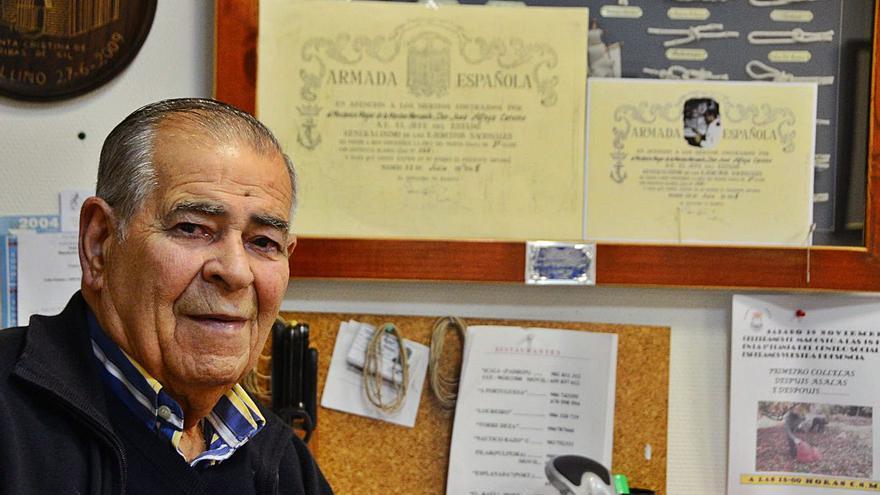 Muere a los 95 años José Alfaya, expresidente del Club de Jubilados de Bueu