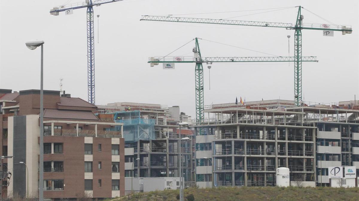 Edificios residenciales en construcción