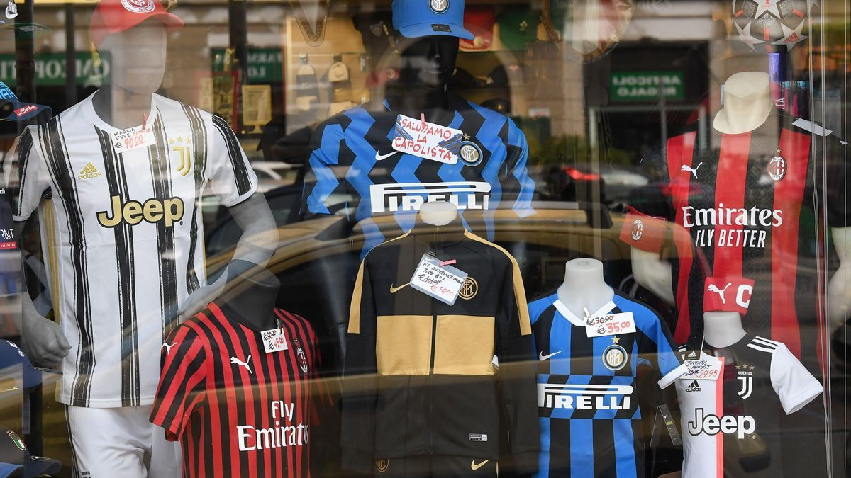 Shirts of teams that traditionally play the Champions League