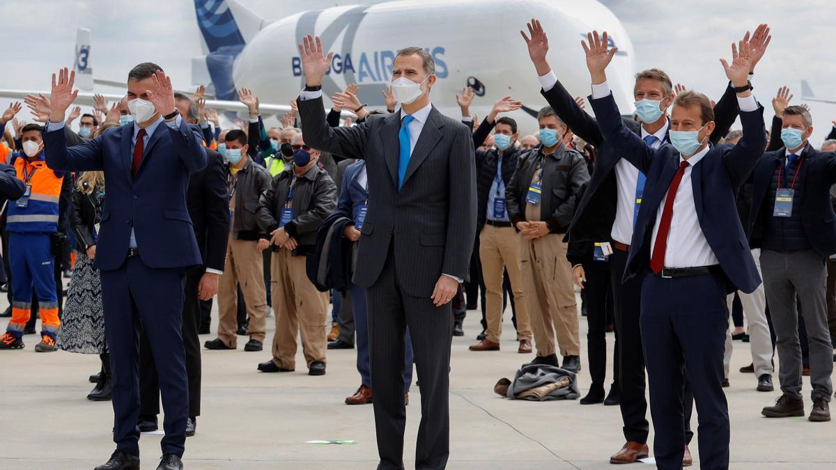 El rey Felipe VI y el presidente del Gobierno inauguran el nuevo campus de Airbus