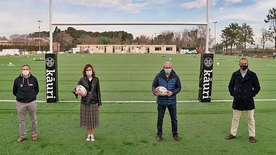 La Fundación Trinidad Alfonso y el reFERente César Sempere impulsan un nuevo campo de rugby en Picanya