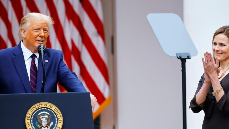 Donald Trump confirma a la conservadora Amy Barrett como jueza para el Supremo