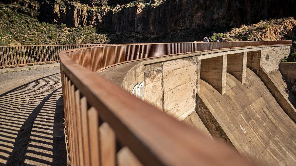Presa de El Río, en Arico. | | ANDRÉS GUTIÉRREZ