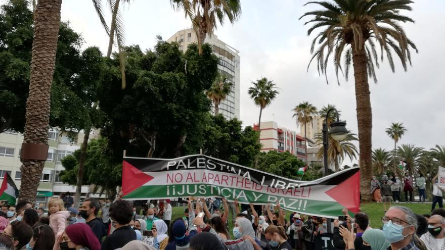 Concentración contra la violencia en Gaza en Las Palmas de Gran Canaria (15/05/21)