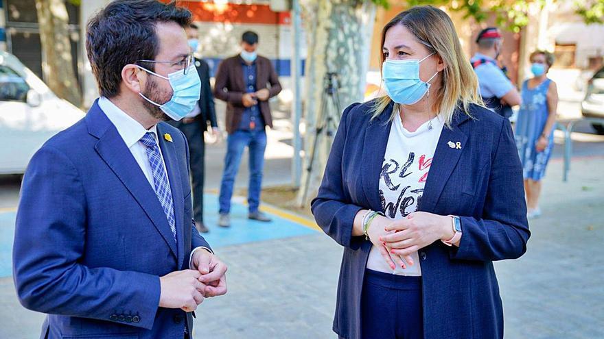 Pere Aragonès demana col·laboració ciutadana en una visita a Figueres